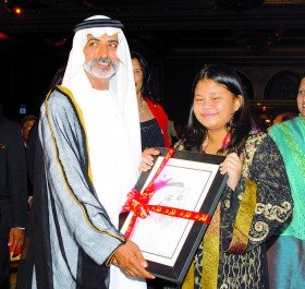 H.H Sheikh Nahyan Bin Mubarak Al Nahyan at EMC's Art for Charity